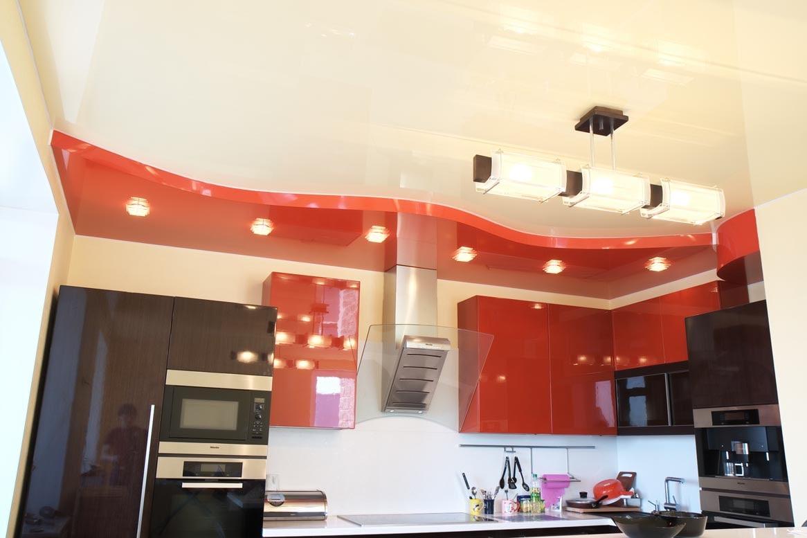 двух уровненный натяжной потолок на кухню фото региональная общественная организация